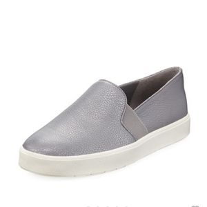 VINCE Blair Gray Metallic Slip On Sneakers Size 9